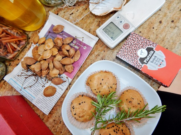 How time is spent: father's rosemary bread, tarok cards, apricot stones for next brandy, obligatory air-conditioning