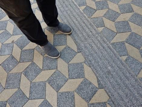 So that it's the wizard too. New pavement in Ljubljana's Slovenska street.
