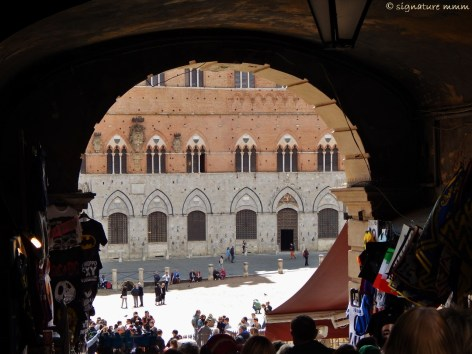 Siena with the famous square.