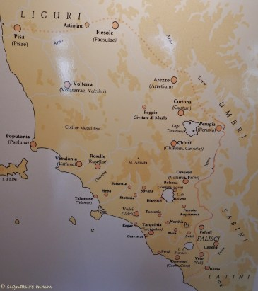 The Etruscan territory. I live to the south of funny 3-road peninsula, which is where Orbetello is.