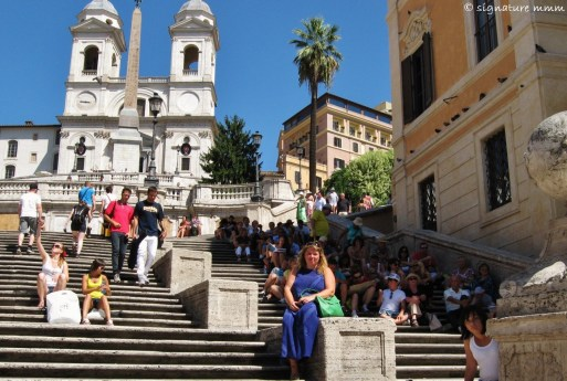 The Spanish Steps. Note all the people in the shade. It was hot.