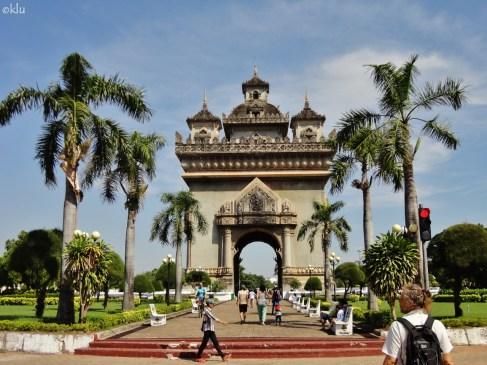 Patuxai Arch, Vientiane, Laos.
