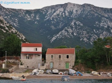 And this is the highest mountain of Pelješac just above Duba: Mt. Saint Ilija, just under 1000 metres.