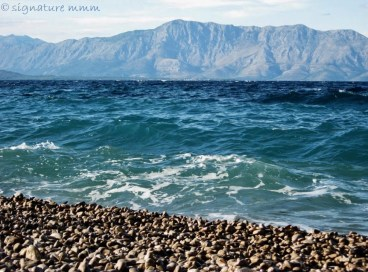 Some days are clearer than others and you can see Biokovo mountains on the mainland as if you were there.