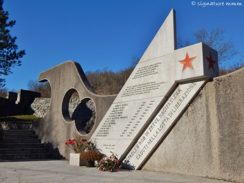 A monument to all fallen in the NOB (National Liberation War), Doberdob, Italy.