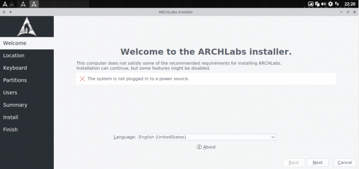 Step by step installing ArchLabs 4.1