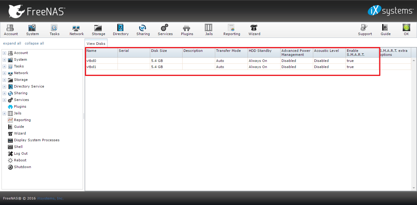 Add new hard disk to FreeNAS 9 10 | Manjaro dot site