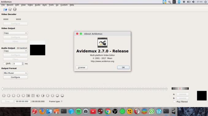 avidemux 2.7.0 appimage