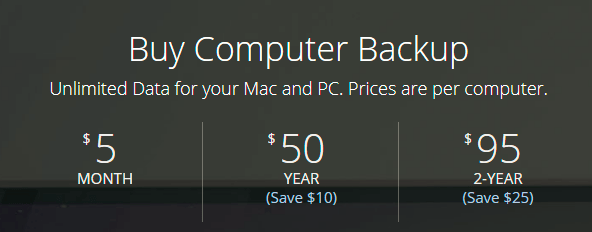backblaze backup pricing