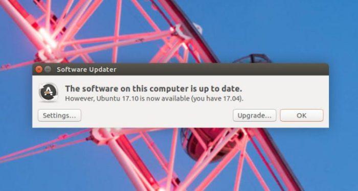 upgrade to ubuntu 17.10
