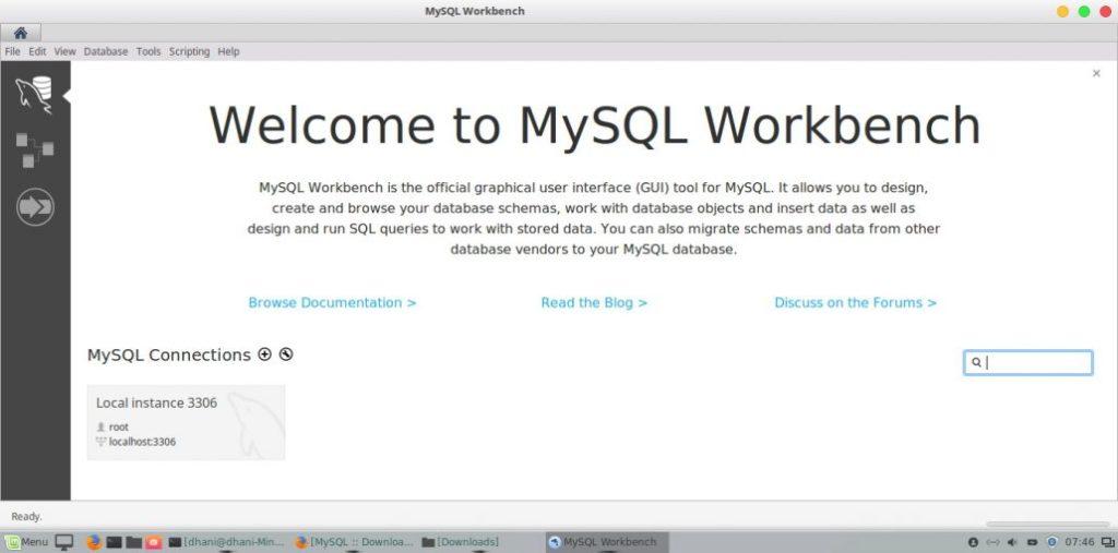 mysql workbench ubuntu 18 04
