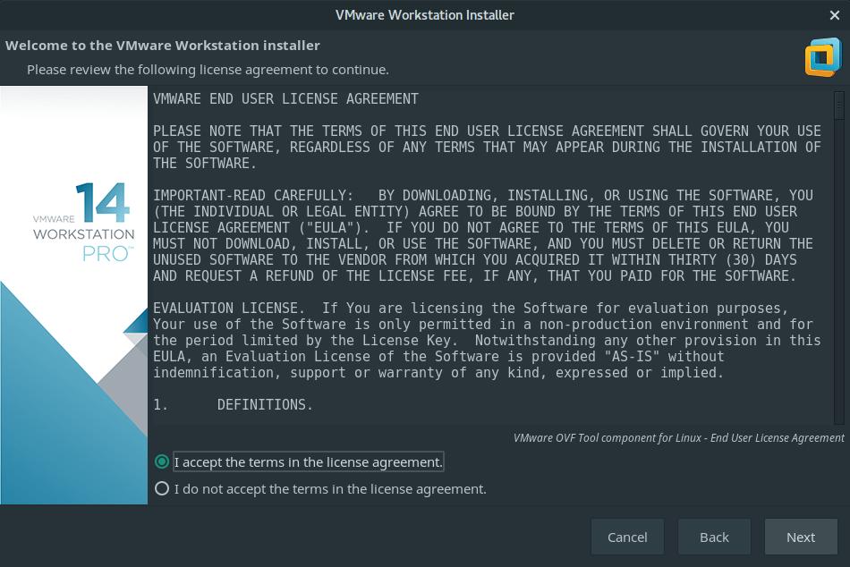 install vmware workstation manjaro 2