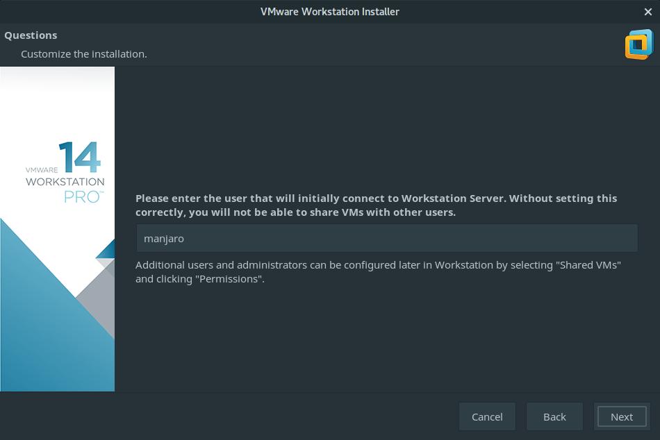 install vmware workstation manjaro 7