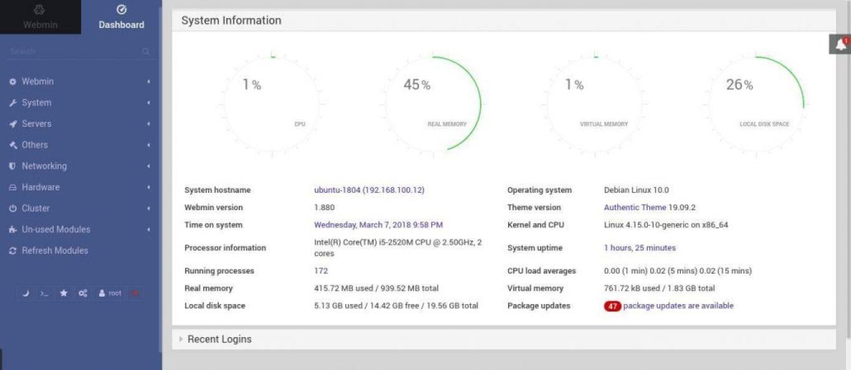 Install Webmin on Ubuntu 18.04