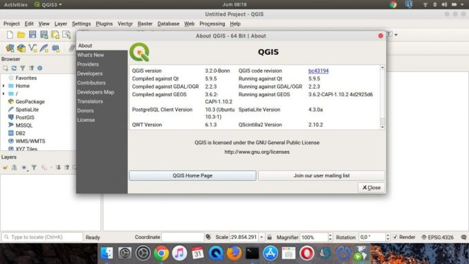 How to Install QGIS 3 2 on Ubuntu 18 04 Bionic Beaver