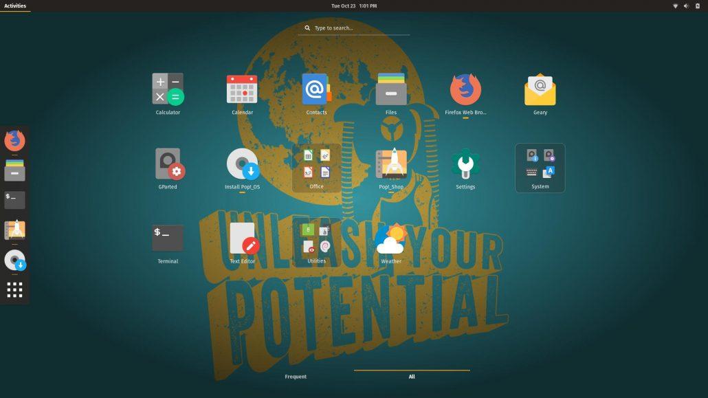 pop os desktop
