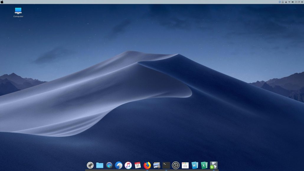 mint linux looks like mac os x