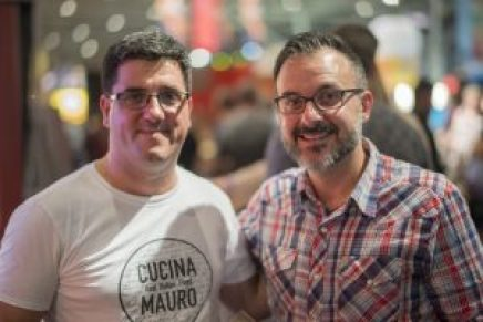 Mauro and John Catucci at Veal Sandwich Contest