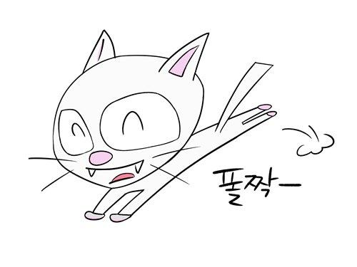 메디방 페인트 고양이 폴짝