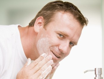 Man Care. Washing and Cleansing Face