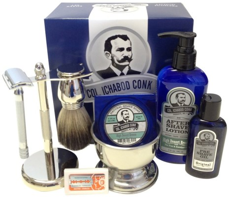 Best shaving kit at this price. Colonel conk with merkur safety razor and 7 other pieces
