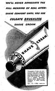 Colgate Vintage Shaving Cream with no Shaving Brush