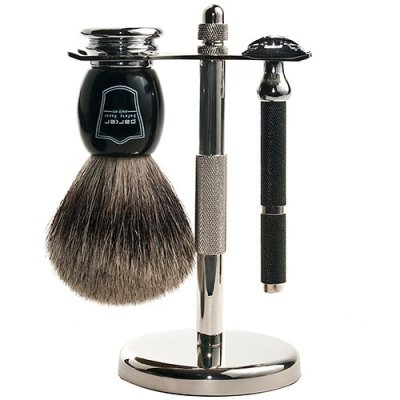 Great shave set with parker safety razor and pure badger hair shave brush