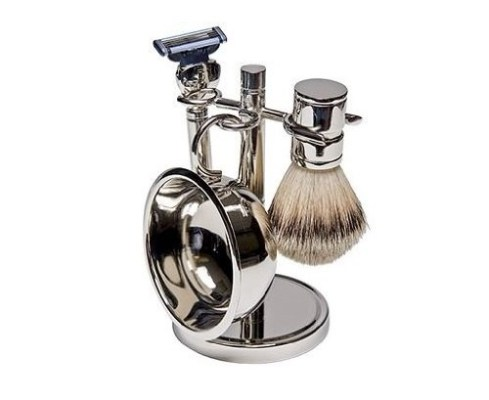 Harry D Koenig Low cost shaving set with razor, brush and shaving bowl