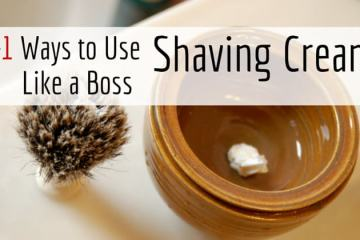How to use shaving cream to wet shave