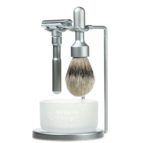 Very Premium Shaving Kit With Merkur Futur Safety Razor And Silvertip  Badger Shaving Brush