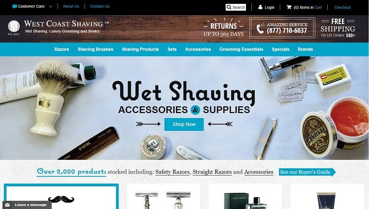 West coast shaving has an awesome variety of wet shaving supplies