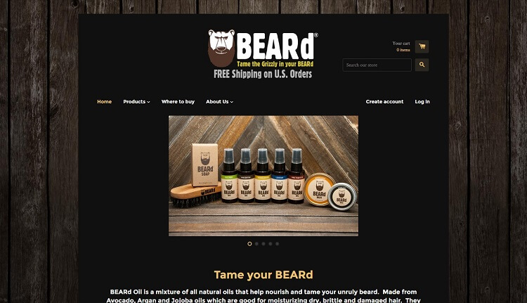 beard oil co company eshop
