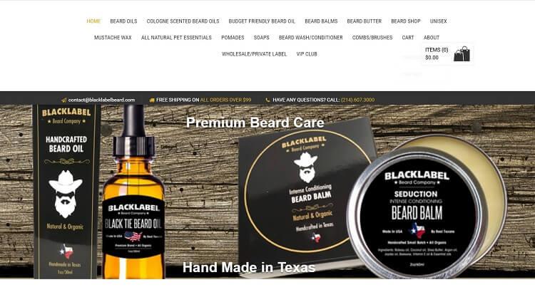black label beard company eshop