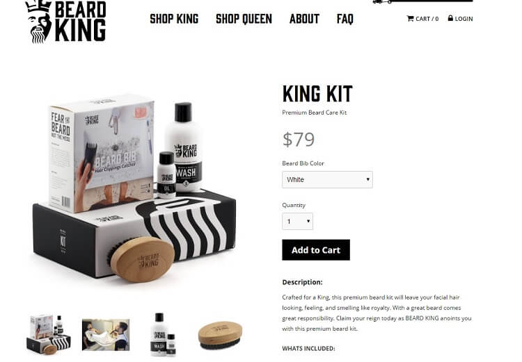 the beard king company eshop