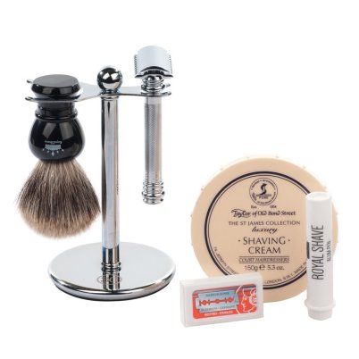 Merkur Barber Pole 38C 6 Piece Wet Shaving Set