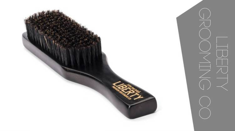 A great boar hair beard brush by Liberty Grooming Co. It can be used as hair brush as well