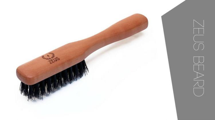 One of the best travel beard brushes is Zeus Beard with boar hair