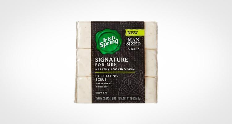 Irish Spring exfoliating bar soap for men