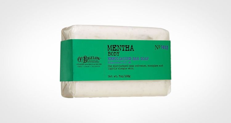 Mentha Body exfoliating bar soap for guys