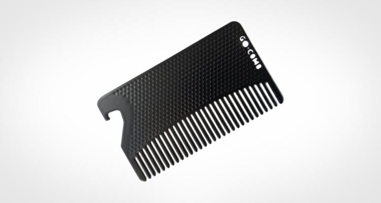 Go Comb Stainless Steel Beard Comb - Bottle Opener