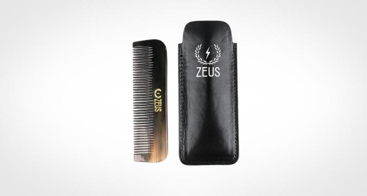 Zeus Beard Comb Natural Horn