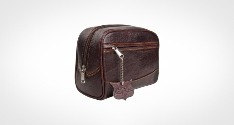 Deluxe Leather Toiletry Bag from Parker Safety Razor