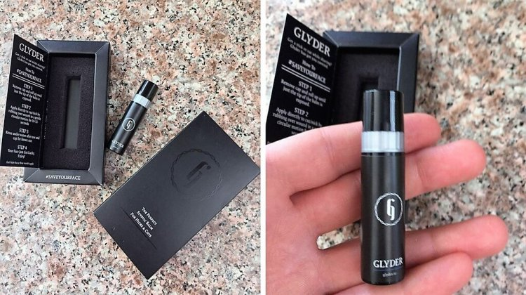 Glyder Styptic Balm the tube