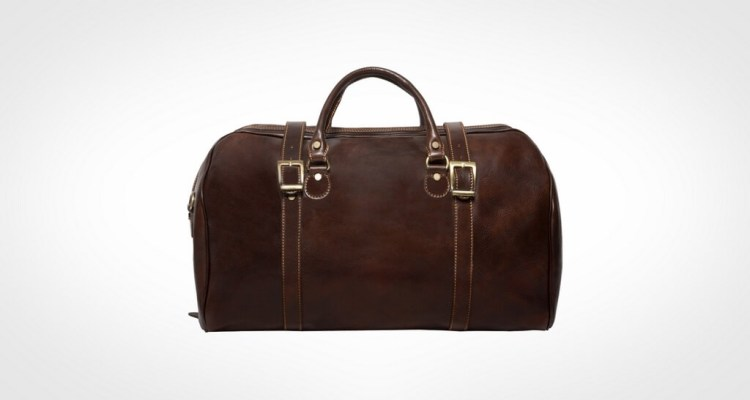 Alberto Bellucci Milano Italian Leather Carry-on Tourist Duffel Bag