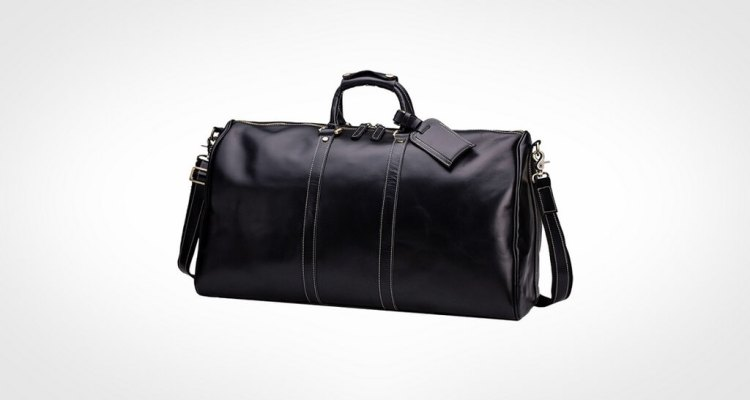 Huntvp Mens Leather Travel Duffel Bag
