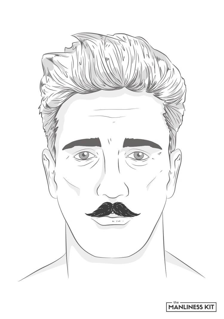 hungarian mustache style