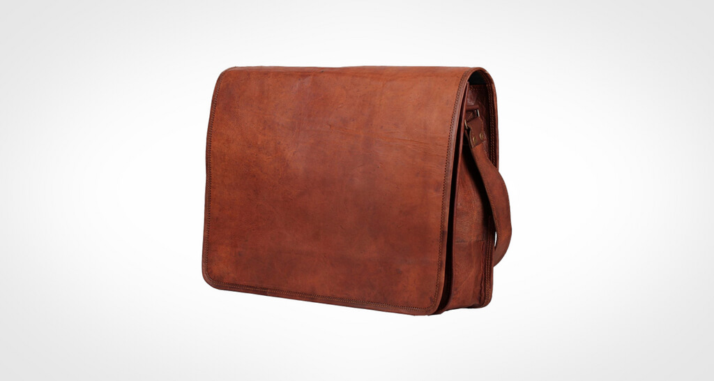 Rustic Town Leather Laptop Messenger Bag