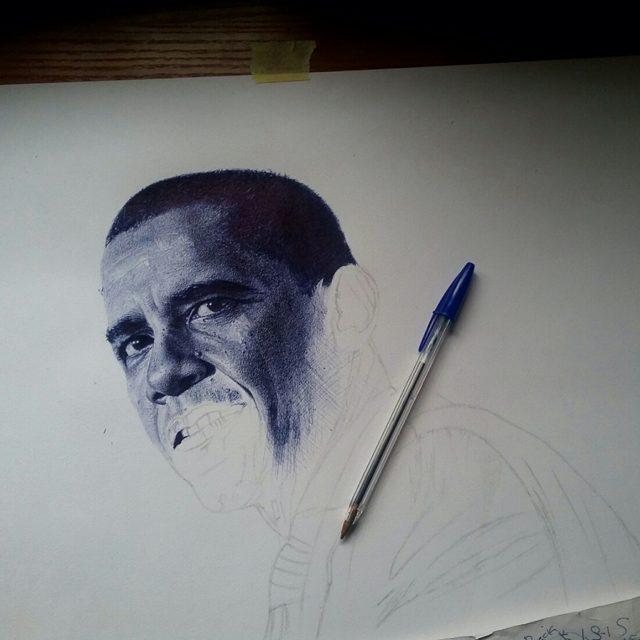 oscar sketchs barrack obama
