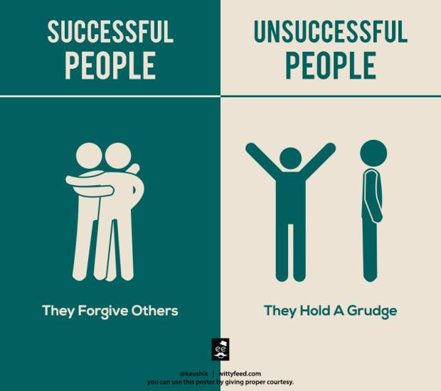 Successful people forgive others
