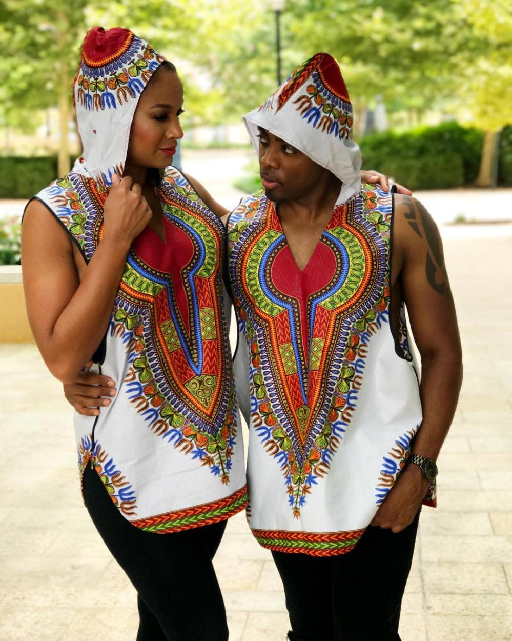 dashiki couple outfit